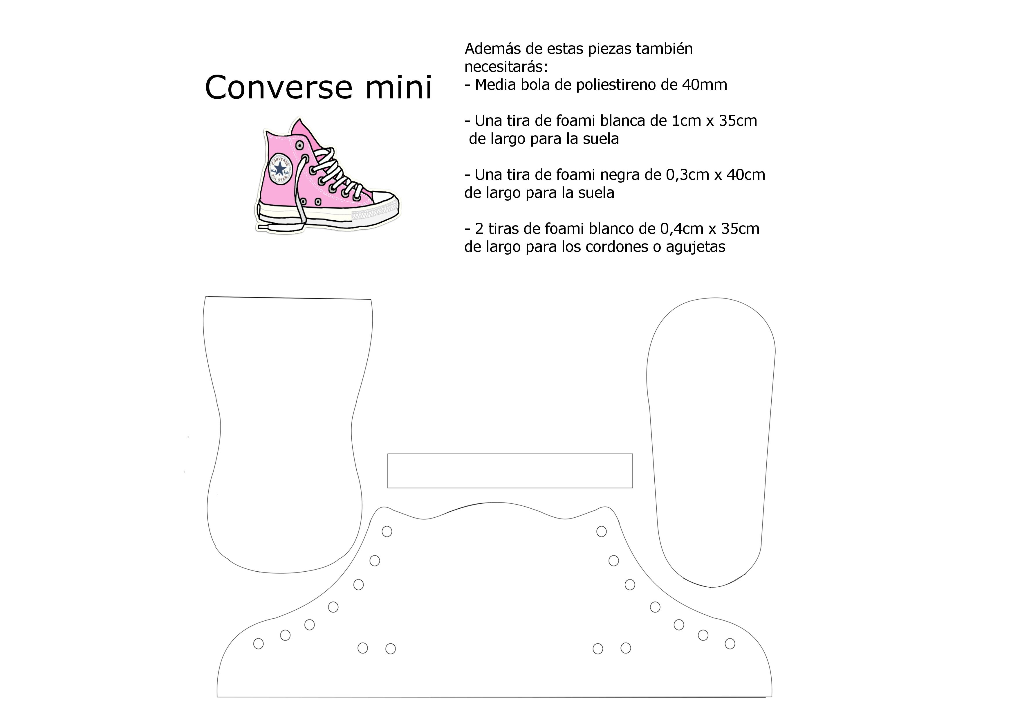 Plantillas zapatillas converse - Plantillas pared ...