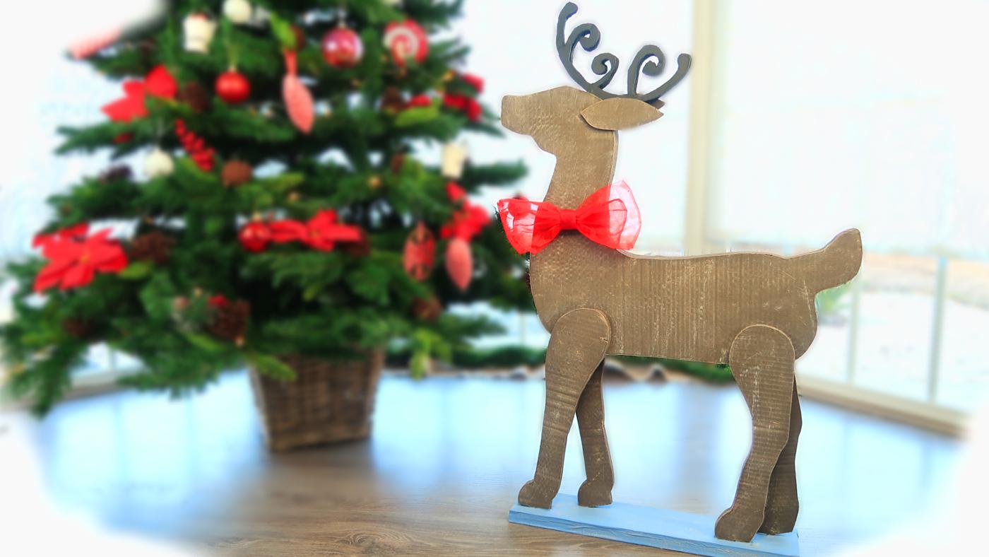 Manualidades Para Navidad Con Reciclaje Reno De Carton Con Plantillas El Mundo De Isa