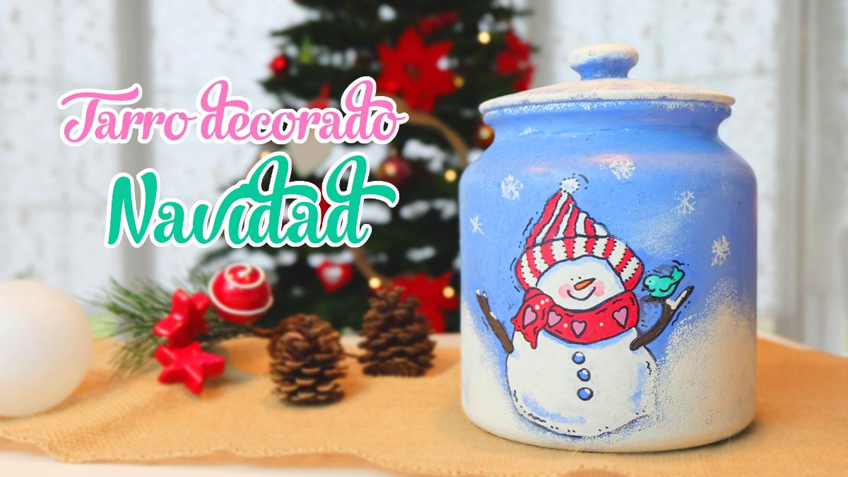 tarro-decorado-hombre-de-nieve